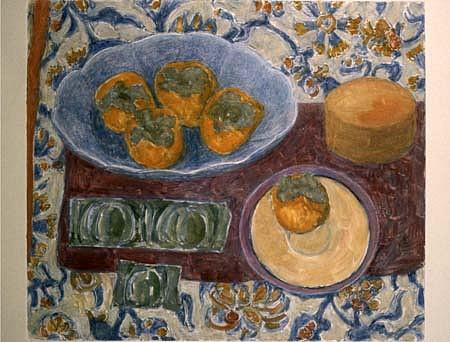 Janet Yake, Persimmons 1996, monotype
