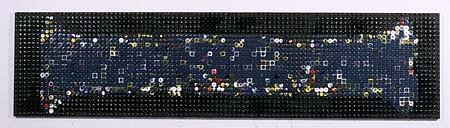 Joseph Zucker, Canoe 1993, acrylic, plywood, pegboard
