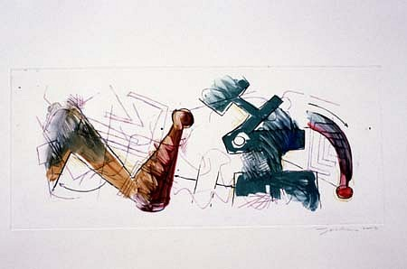 Joseph Zirker, Untitled 2003, watercolor monotype