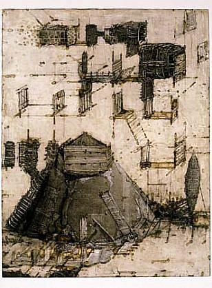 Vladimir Zabeida, Jeux de Sable - Z 2002, monotype