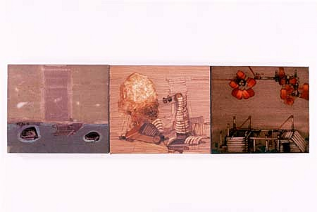 Vladimir Zabeida, Crossings I 2002, oil on canvas