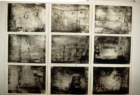 Joanne Yoshida, Hotojima, Slowly Through the Harbor 1993, drypoint