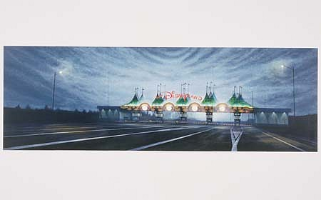 Peter Waite, Euro Disneyland 1993, acrylic on plastic panels