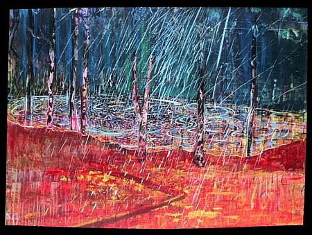 Robert Warrens, Rain 2005, acrylic on canvas