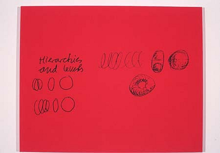 Derek Weiler, Hierarchies 1997, silkscreen, acrylic