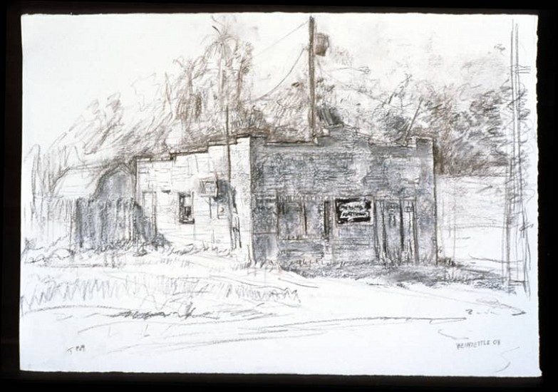 Joseph Weinzettle, 5 pm 2008, vine and natural wood charcoal