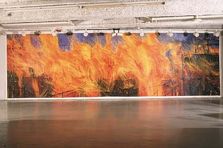 Leigh Wen, Fire Mural 1998, oil on canvas
