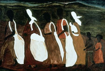 Mary Whitfield, Day is Done 1990, watercolor, acrylic on canvas board