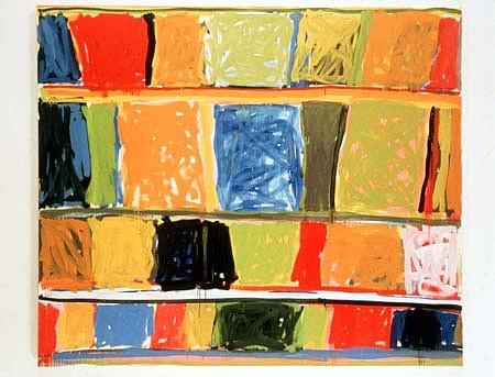 Stanley Whitney, The Awakening of Memory 1997, oil on linen
