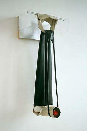 Margret Wibmer, Omosudis 1999, rubber, aluminum, terry cloth, foam rubber, fabric