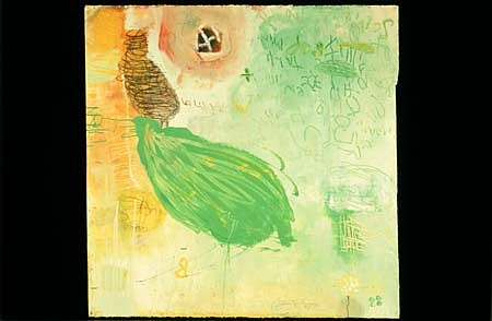 Heather Wilcoxon, Green Drink 1998, mixed media on paper