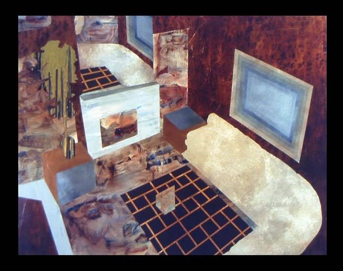 Hilary Wilder, Living Room at Baristo Manor 2006, acrylic on canvas