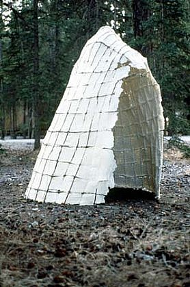 Janet Williams, Shelter II 1992, willow, paper pulp, beeswax