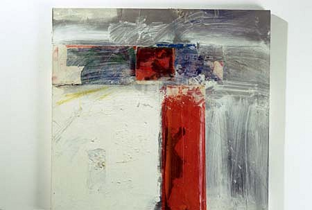 Frank Wimberley, Column 1996, acrylic with collage on canvas