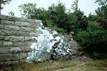David Winter, For Smithson 1989, galvanized steel