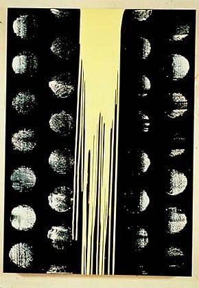 Rob Wynne, Black Sun 1991, oil on canvas