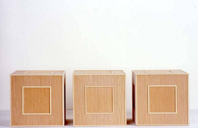 Hadi Tabatabai, Floor Piece No. 3 2004, wood and thread on plywood