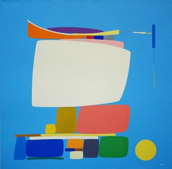SoonAe Tark, Happy Day 2001, acrylic on canvas