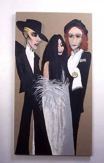 Stephen Tashjian, Bowie, Yoko, John 2005, acyrilic on liner