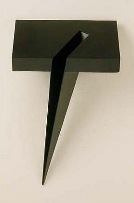 Lois Teicher, Square with Rectangle and Wedge 1995, painted aluminum