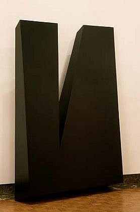 Lois Teicher, Wedge with Wedge 1995, aluminum, painted polyurethane