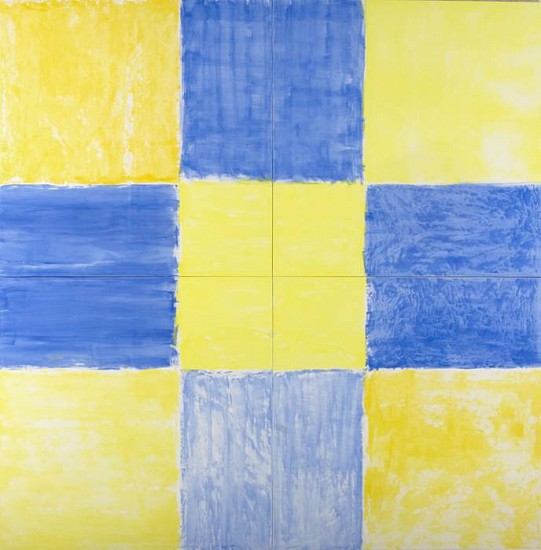 Anita Thacher, Untitled (Check #2) 2008, acrylic on canvas