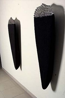 Brynhildur Thorgeirsdottir, Mountain IV, III 2002, concrete, glass, sand