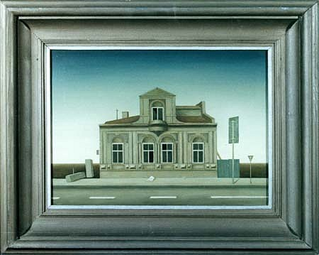 Mitko Tozev, The Lonely House 1996, oil on canvas