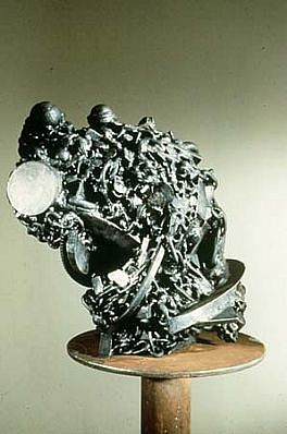 Lee Tribe, Hatch 1988, mild steel, welded, treated and waxed