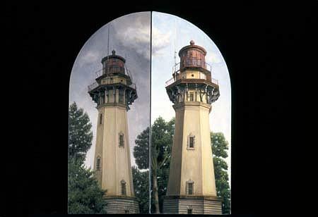 Annamarie Trombetta, Lighthouse Diptych 2001, oil