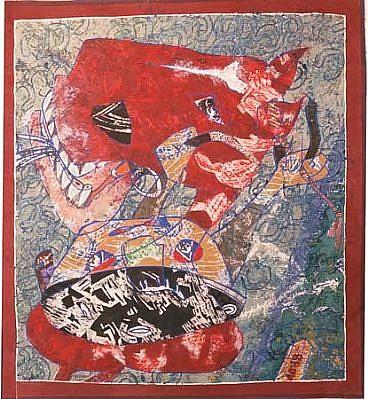 Philip Trusttum, Ride 13 1990 - 1999, acrylic on canvas