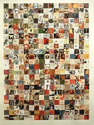 Josette Urso, Seed Series No. 2 1996, collage on paper