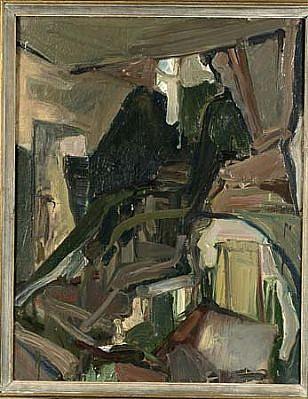 Arunas Vaitkunas, The Staircase 1982, oil on canvas