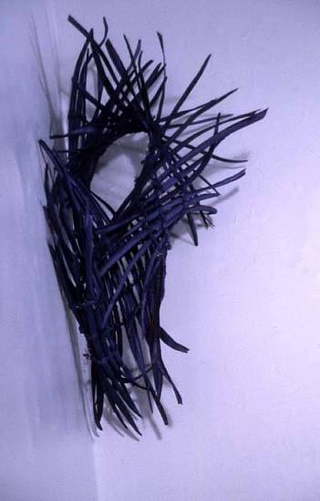 Teressa Valla, Purple Heart 2005, catalpa pods, pumice, alkid, cotton