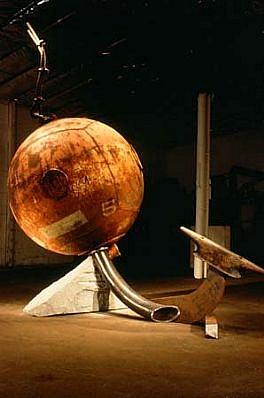 John Van Alstine, Bouy 1995, granite, steel
