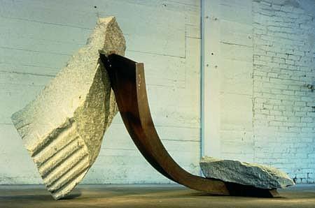 John Van Alstine, Pique 'A Terre VI 1997, granite, steel