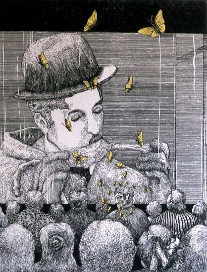 Pedro Villalba-Ospina, One Hundred Years of Solitude in Etching-Chapter XIV 1996-2002, etching (copper, zinc)