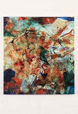 Anthony Viti, I and R No. 46 2003, human blood, urine, pigment and varnish on canvas