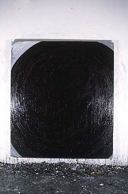 Mark Saltz, Dropping By 1985, oil on linen