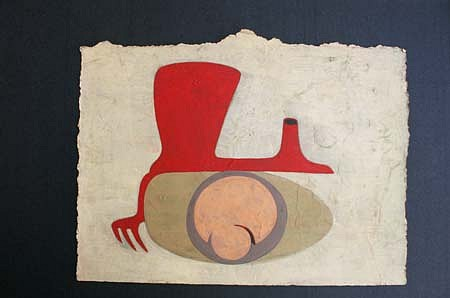 Tanmoy Samanta, Untitled 2002, gouache on rice paper
