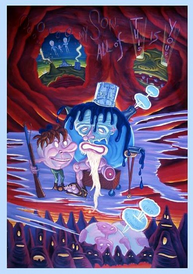 David Sandlin, Oooh My Son, All of This Is Yours (Helluva World) 2006, oil on canvas