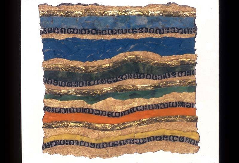 Margi Scharff, Bay of Bengal Blues 2001-2004, mixed media collage