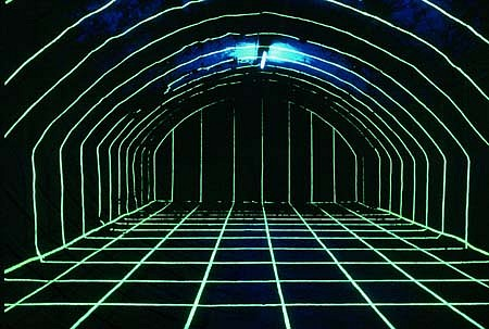 Gue Schmidt, In the Cellar 2000, mixed media installation