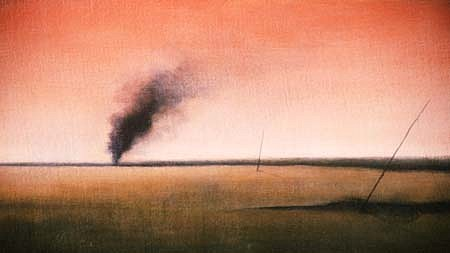 Peter Schroth, Lepic's Fire 1990, oil on canvas