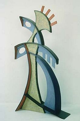 Charles Searles, Resounding 2002, painted wood