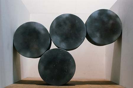 David Seccombe, Roller Wall 1994, wood, graphite, paint