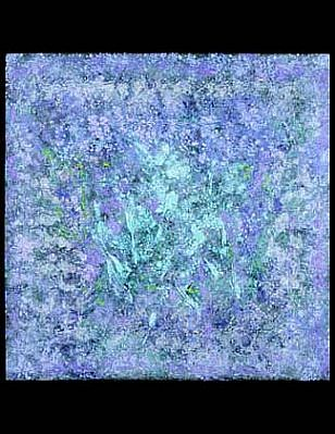 Charles Seliger, Crystal Garden 2001, acrylic on masonite