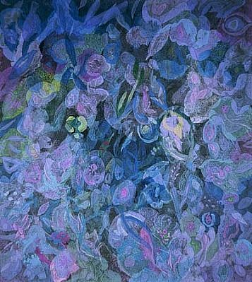 Charles Seliger, Elusive Blossoms 2004, acrylic on masonite