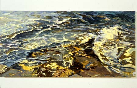 Susan Shatter, Wave Change 2002, oil on wood