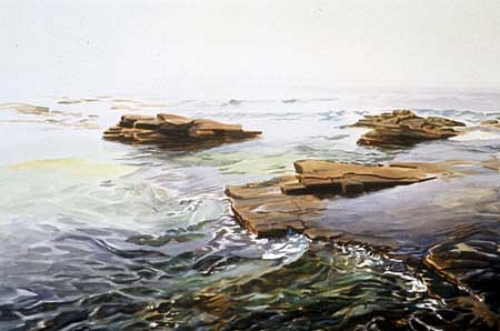 Susan Shatter, Sea Ledge 2001, watercolor on paper